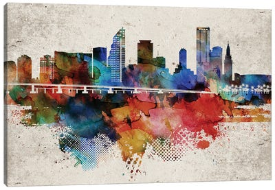 Miami Abstract Canvas Art Print