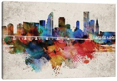 Miami Abstract Canvas Art Print