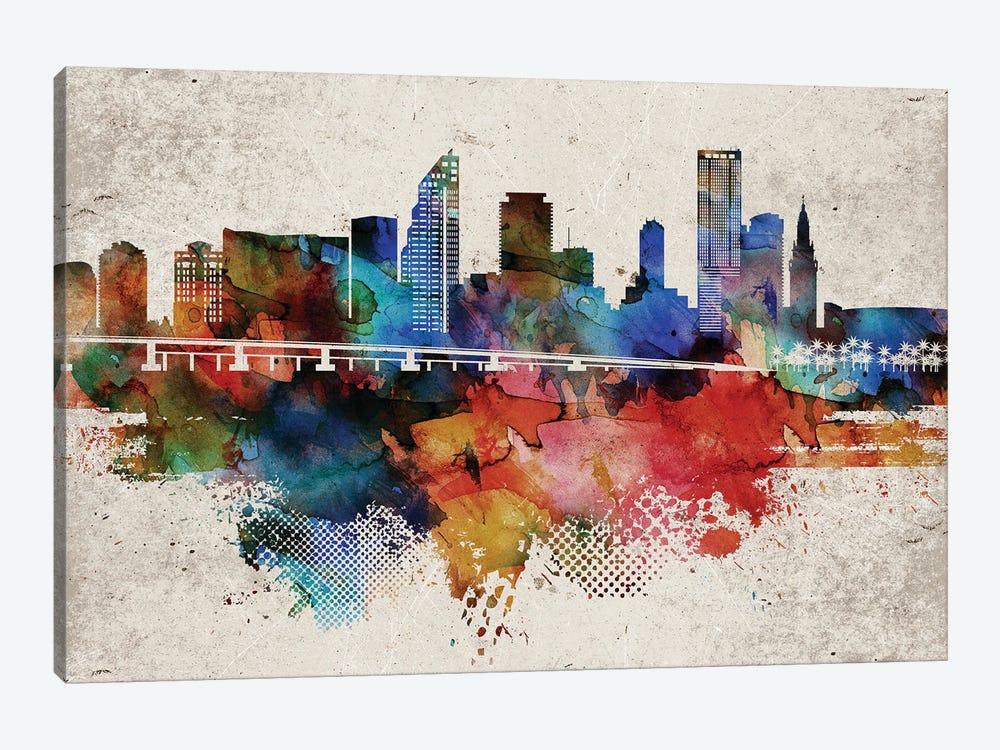 Miami Abstract by WallDecorAddict 1-piece Canvas Art