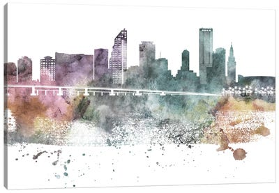 Miami Pastel Skylines Canvas Art Print