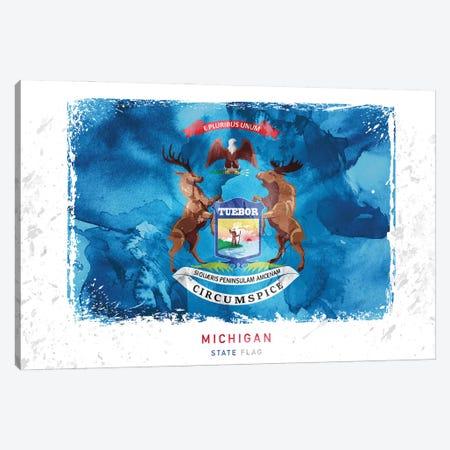 Michigan Canvas Print #WDA257} by WallDecorAddict Canvas Print