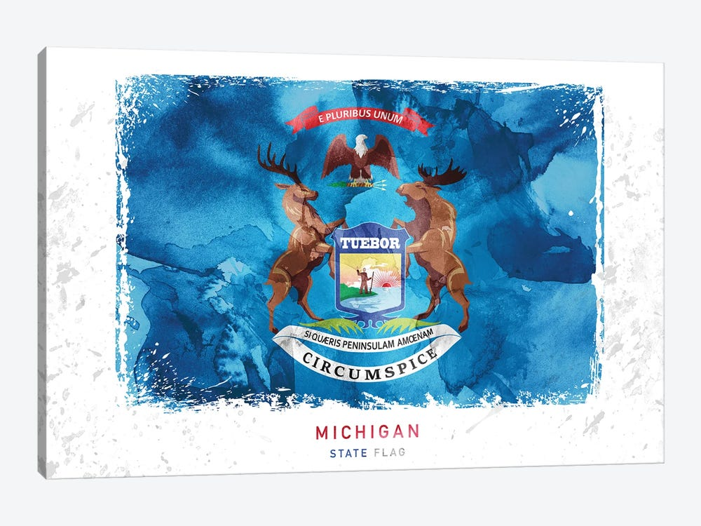 Michigan by WallDecorAddict 1-piece Canvas Art