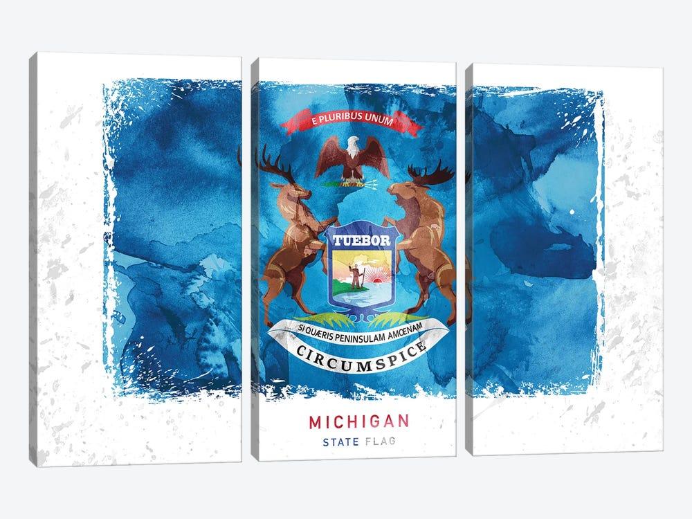 Michigan by WallDecorAddict 3-piece Canvas Artwork