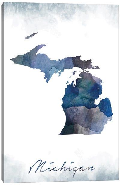 Michigan State Bluish Canvas Art Print