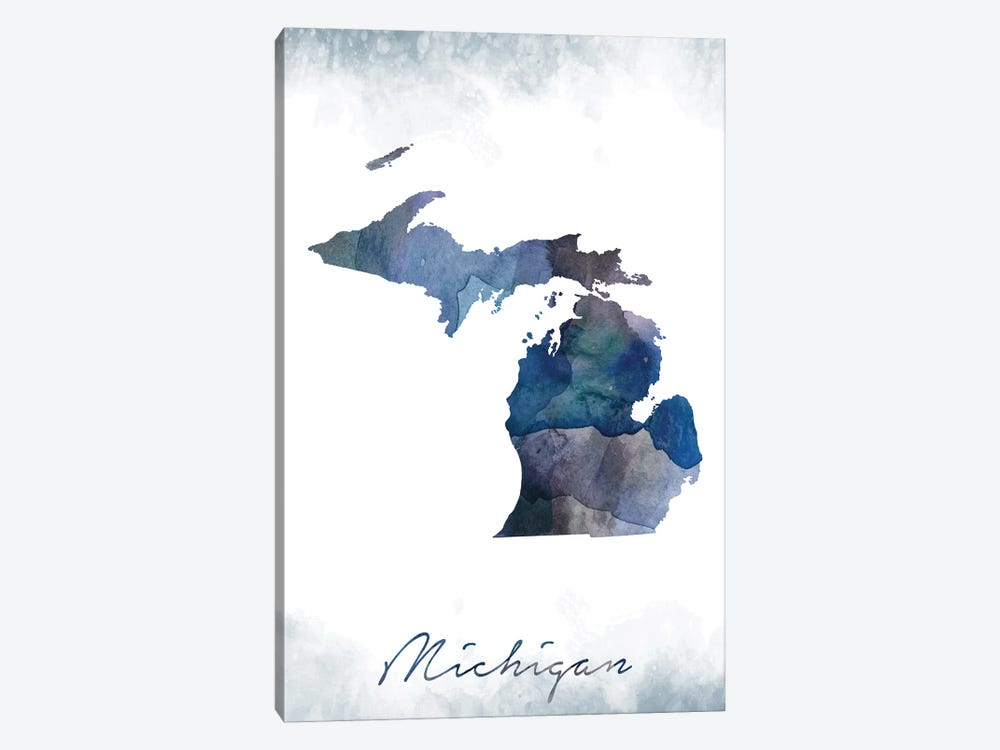 Michigan State Bluish by WallDecorAddict 1-piece Art Print