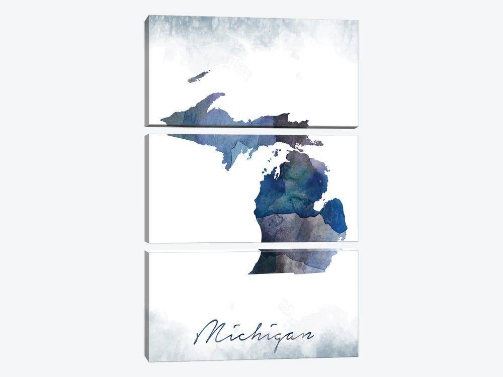 Michigan State Bluish by WallDecorAddict 3-piece Art Print