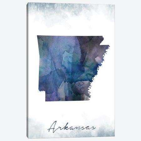 Arkansas State Bluish Canvas Print #WDA25} by WallDecorAddict Canvas Artwork