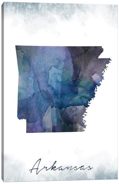 Arkansas State Bluish Canvas Art Print