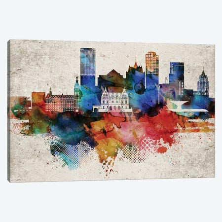 Milwaukee Abstract 3-Piece Canvas #WDA262} by WallDecorAddict Canvas Print
