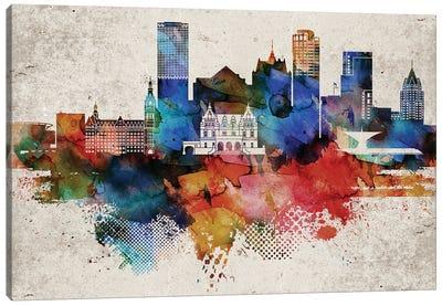 Milwaukee Abstract Canvas Art Print