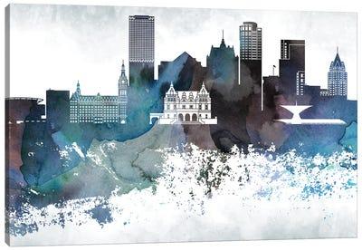 Milwaukee Bluish Skylines Canvas Art Print