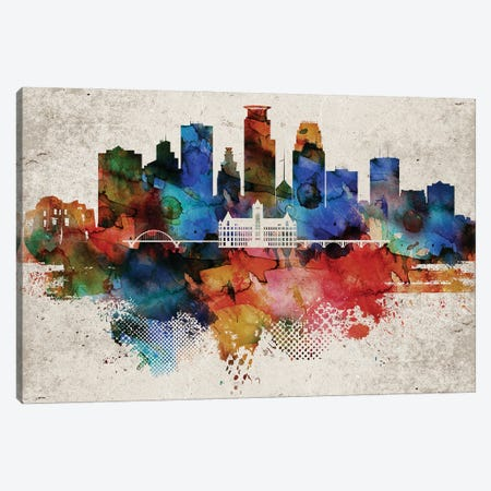 Minneapolis Abstract Canvas Print #WDA266} by WallDecorAddict Canvas Artwork