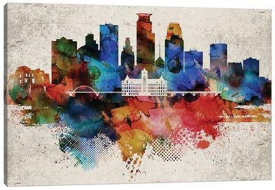 Minneapolis Abstract Canvas Art Print