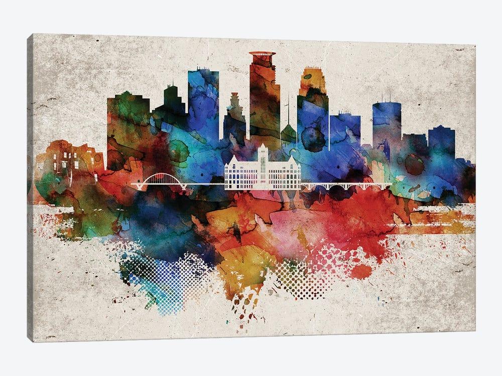 Minneapolis Abstract by WallDecorAddict 1-piece Canvas Wall Art
