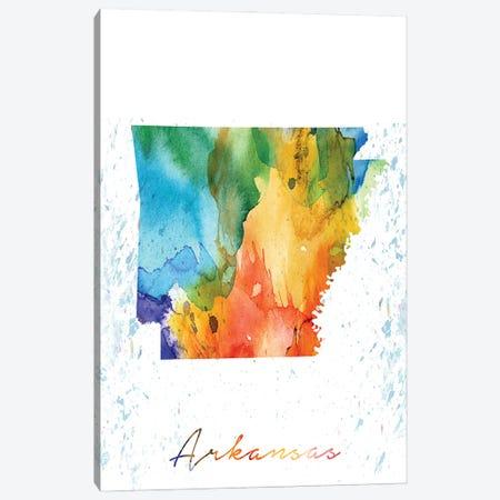 Arkansas State Colorful Canvas Print #WDA26} by WallDecorAddict Canvas Artwork