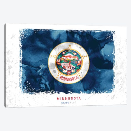 Minnesota Canvas Print #WDA270} by WallDecorAddict Canvas Artwork