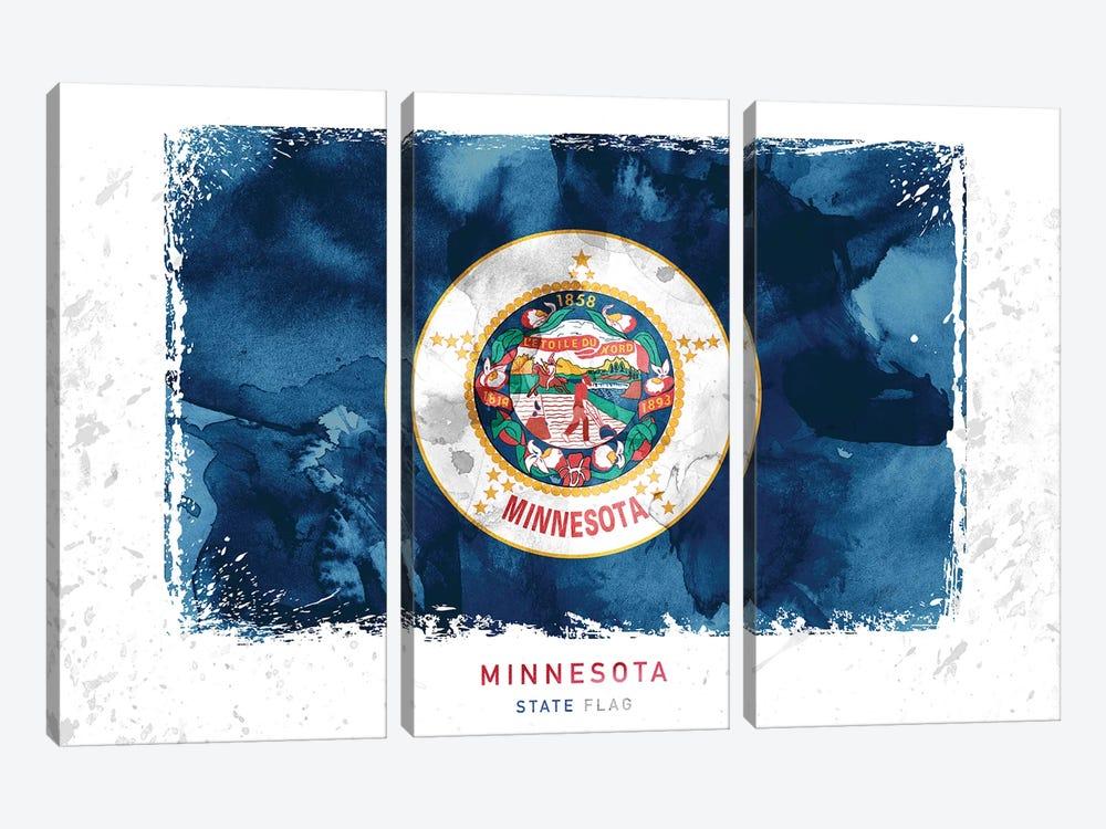 Minnesota by WallDecorAddict 3-piece Canvas Print