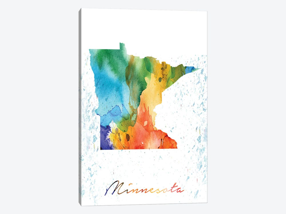 Minnesota State Colorful by WallDecorAddict 1-piece Art Print