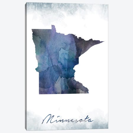 Minnesota Statebluish Canvas Print #WDA274} by WallDecorAddict Art Print