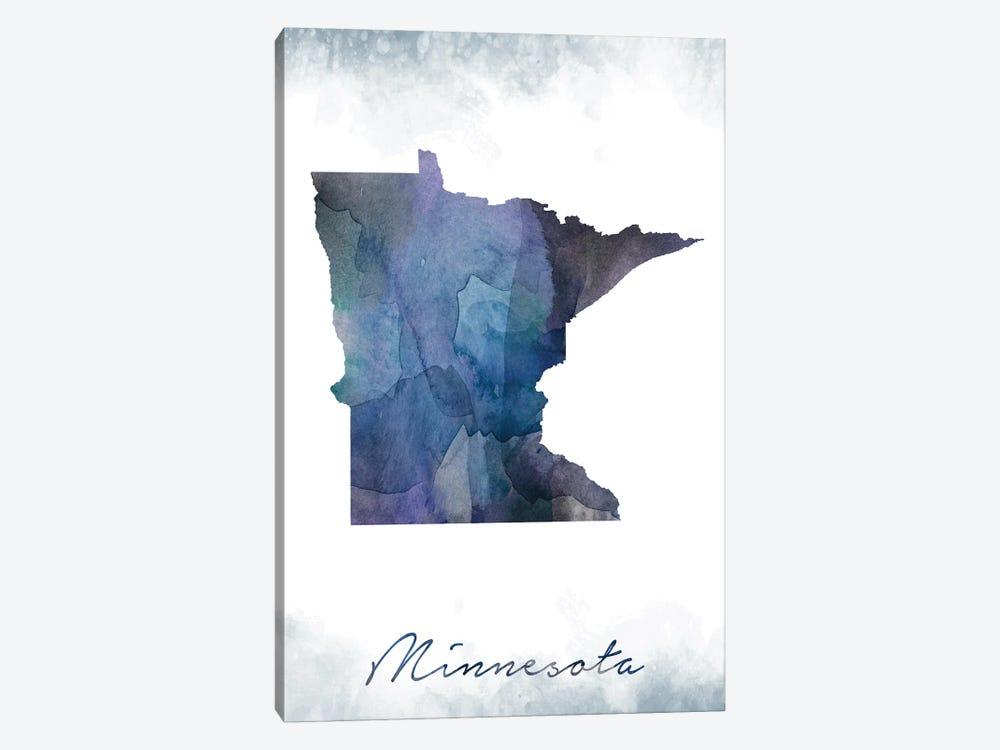 Minnesota Statebluish by WallDecorAddict 1-piece Canvas Print
