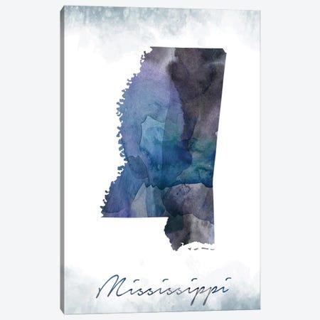 Mississippi State Bluish Canvas Print #WDA276} by WallDecorAddict Canvas Print