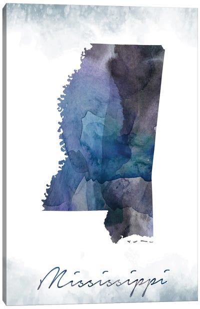 Mississippi State Bluish Canvas Art Print