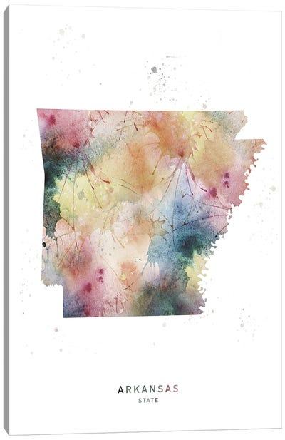 Arkansas State Watercolor Canvas Art Print
