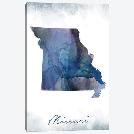Missouri State Bluish Canvas Print #WDA281} by WallDecorAddict Canvas Print