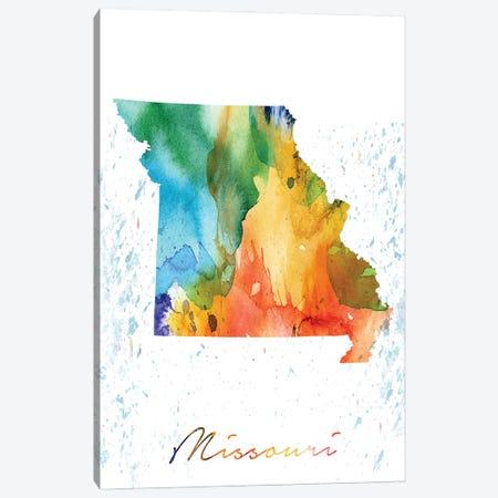 Missouri State Colorful Canvas Print #WDA282} by WallDecorAddict Art Print