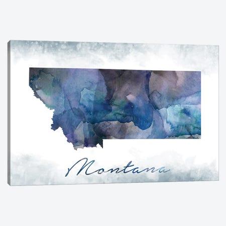 Montana State Bluish Canvas Print #WDA286} by WallDecorAddict Canvas Wall Art