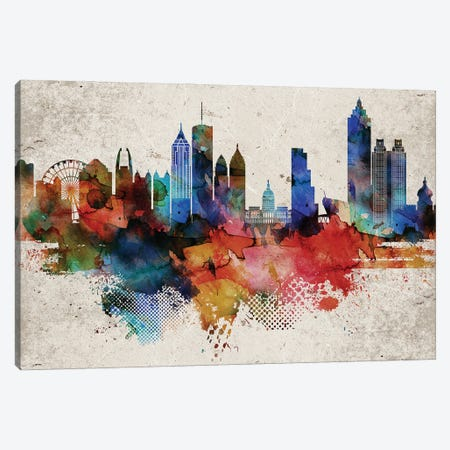 Atlanta Abstract Canvas Print #WDA28} by WallDecorAddict Canvas Print