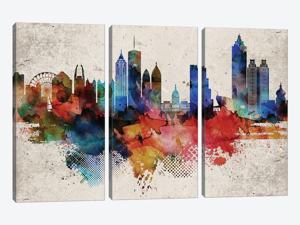 Atlanta Abstract by WallDecorAddict 3-piece Canvas Art Print