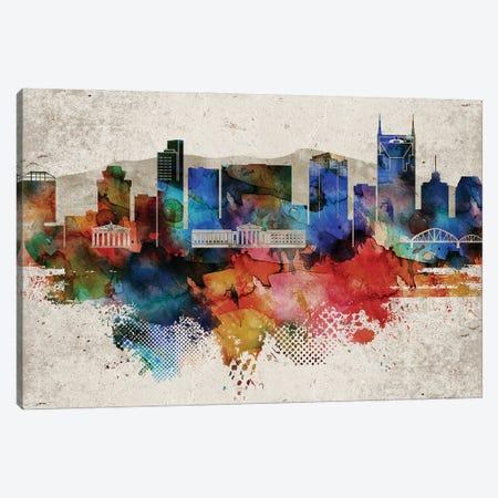 Nashville Abstract Canvas Print #WDA290} by WallDecorAddict Canvas Artwork