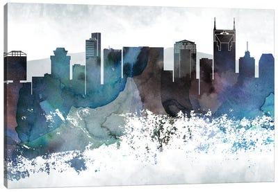 Nashville Bluish Skylines Canvas Art Print