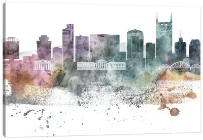 Nasville Pastel Skylines Canvas Art Print