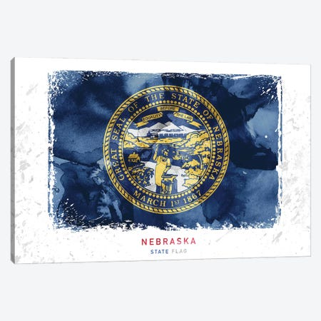 Nebraska Canvas Print #WDA294} by WallDecorAddict Canvas Art Print