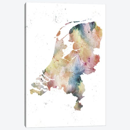 Netherlands Nature Watercolor Canvas Print #WDA299} by WallDecorAddict Canvas Wall Art