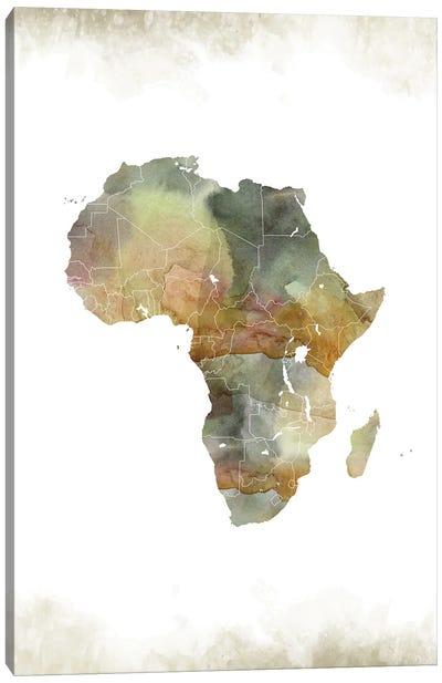 Africa Greenish Map Canvas Art Print
