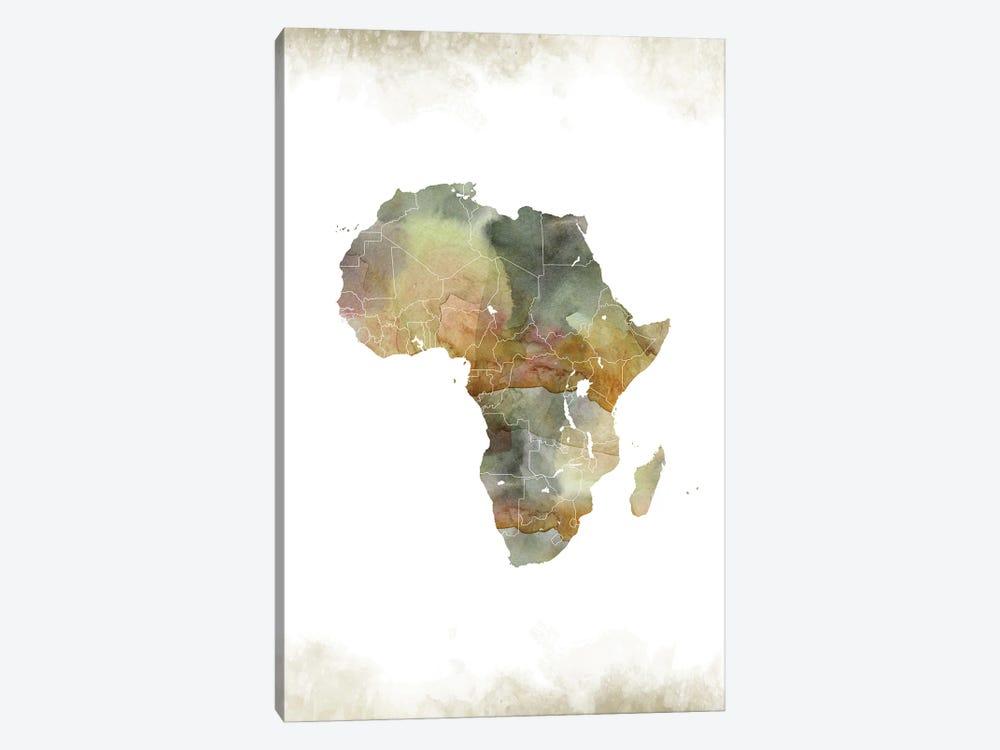 Africa Greenish Map by WallDecorAddict 1-piece Canvas Print