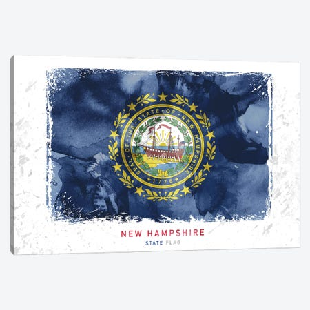 New Hampshire Canvas Print #WDA305} by WallDecorAddict Canvas Print