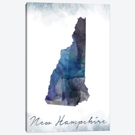 New Hampshire State Bluish Canvas Print #WDA307} by WallDecorAddict Art Print
