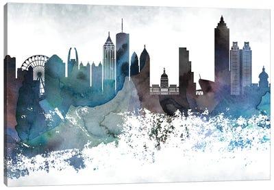 Atlanta Bluish Skylines Canvas Art Print