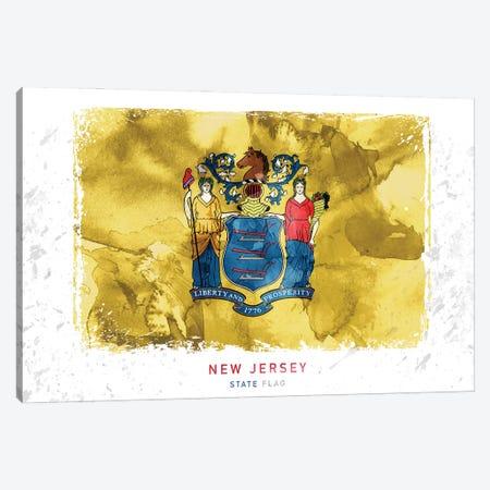 New Jersey Canvas Print #WDA310} by WallDecorAddict Art Print