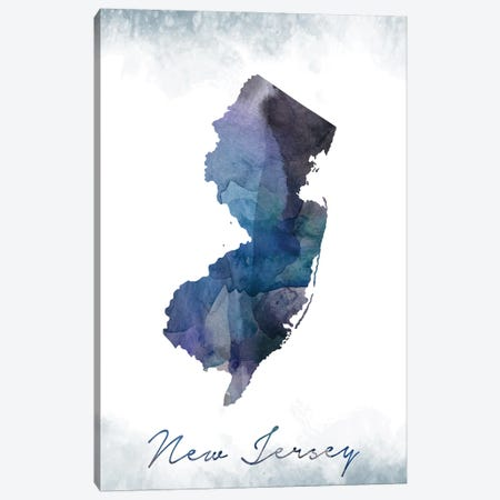 New Jersey Statebluish Canvas Print #WDA314} by WallDecorAddict Canvas Artwork