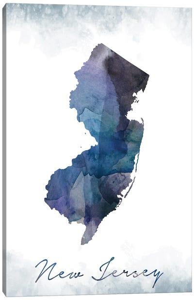 New Jersey Statebluish Canvas Art Print
