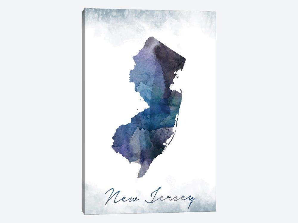 New Jersey Statebluish by WallDecorAddict 1-piece Canvas Artwork