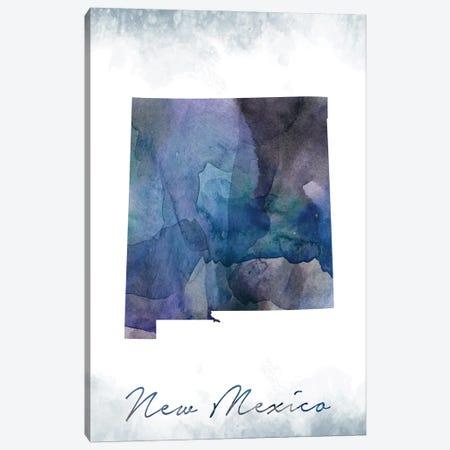 New Mexico State Bluish Canvas Print #WDA317} by WallDecorAddict Canvas Wall Art