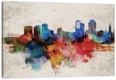 New Orleans Abstract Canvas Art Print