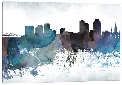 New Orleans Bluish Skylines Canvas Art Print