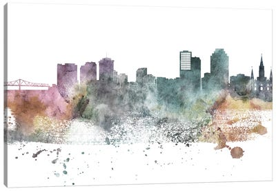 New Orleans Pastel Skylines Canvas Art Print